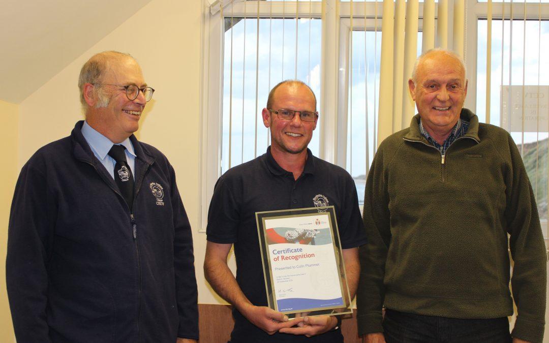 RLSS Bravery Award to Colin Plummer
